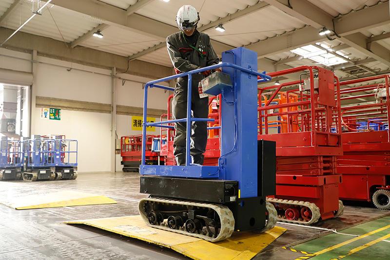高所作業車の整備拠点、関西テクノパークの技術力