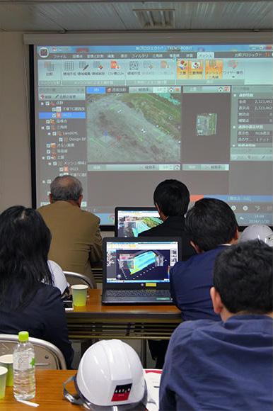 アクティオ ICT施工推進課によるi-Constructionのワークショップ