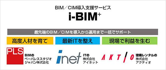 国内最大級のBIMコンサルティング実績を持つペーパレススタジオジャパン、 最高レベルの安全性を備えたクラウドサービスを提供するアイネット、建設機械レンタルのアクティオの3社が協業し、それぞれの強みを活かしたサービスを提供。