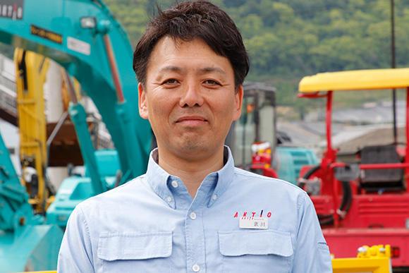 今回お話をうかがったアクティオ四国支店 支店長の武川大介氏。