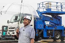 「建機の進化、凄いです! そして悪天候の中で働く、男たちの