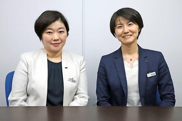 今回お話をうかがったアクティオ人事部人事二課長の清水美也子さん(左)と、人事部人事二課 主事の高橋皆子さん。