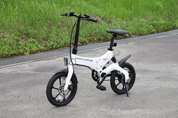 30㎞前後の走行ができる電動アシスト自転車「CHOCO-NORI(チョコノリ)」。