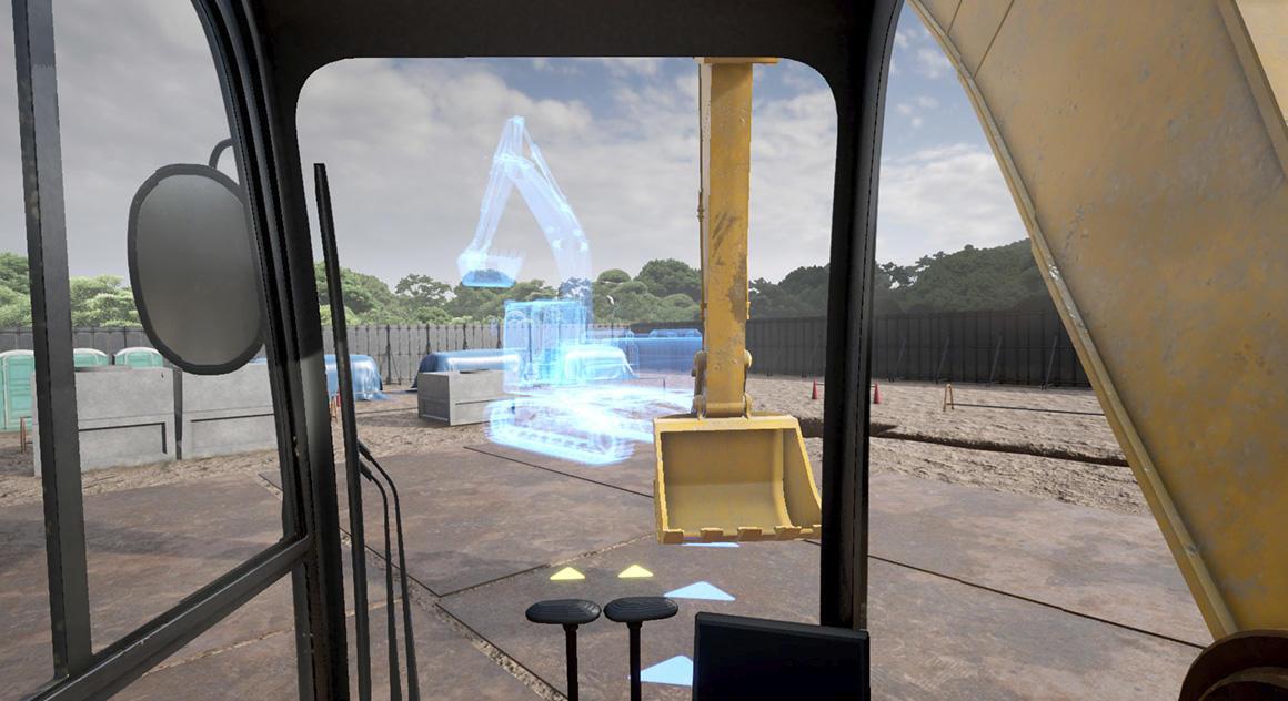 VRを使った安全教育システム「Safety Training System VR of AKTIO」にバックホー編が登場