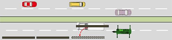 ガス管を敷設する際、2車線以上の交通を規制する必要があるため、特に都市部の工事では渋滞の誘発がネックとなる。