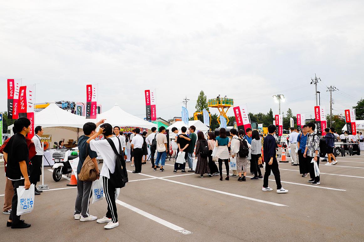 けんせつフェア北陸in富山2019 新型ICT建機を展示し、リクルーティングも実施