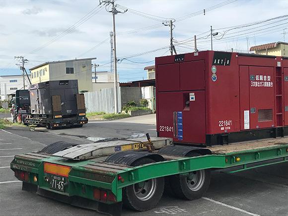 北海道工場から次々に発電機が出庫されていく
