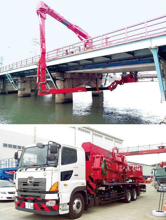 大型橋梁点検車「BT-400」(タダノ)