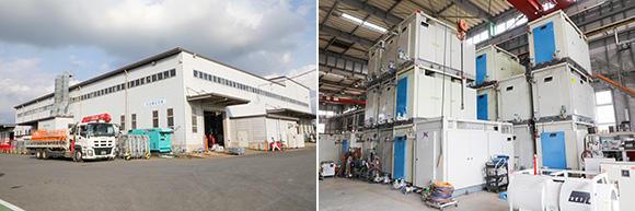 エンジニアリング事業部第2工場。主にシールド工法工事に必要な機器の整備、お客様のニーズに対応した機械の開発・実験・生産などを行っている