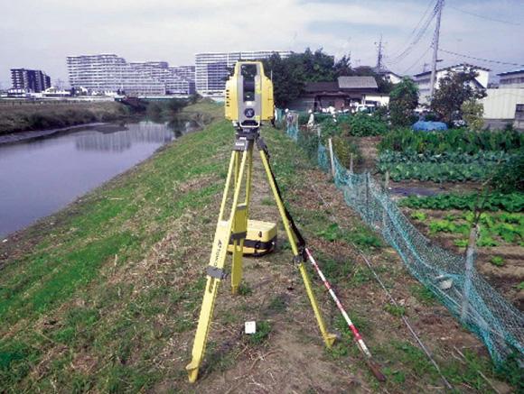 LS(レーザースキャナー)を使った3次元起工測量