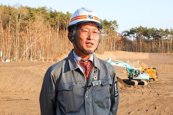 株式会社守谷商会 土木事業本部の北澤秀貴工事部長