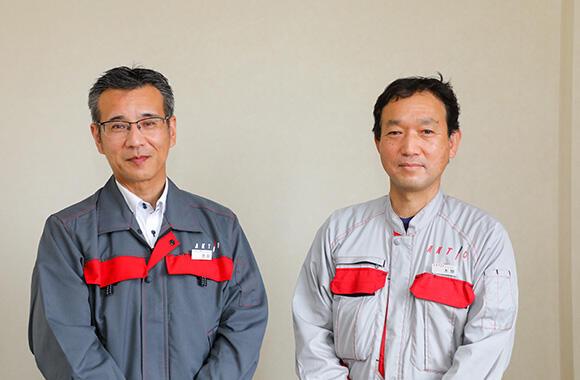 今回お話をうかがった解体事業部の池田嘉統事業部長(左)と本間洋次郎部長