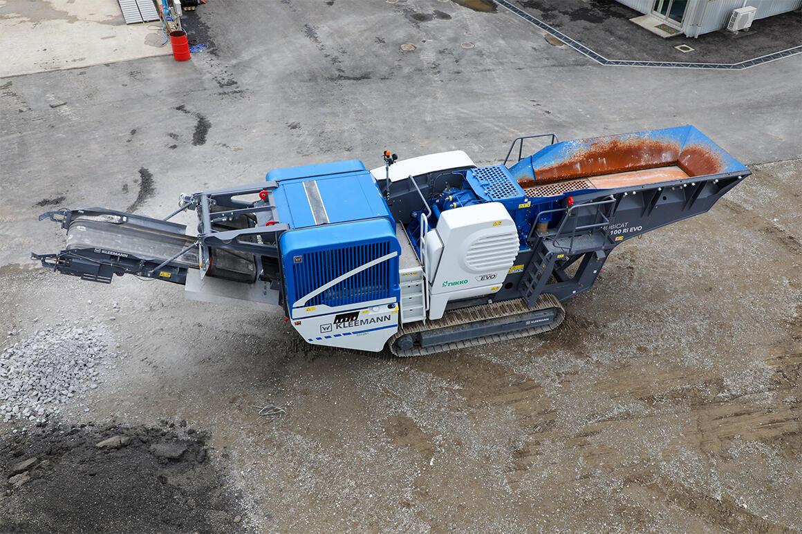 解体現場でガラ処理が可能な「ジョークラッシャー」